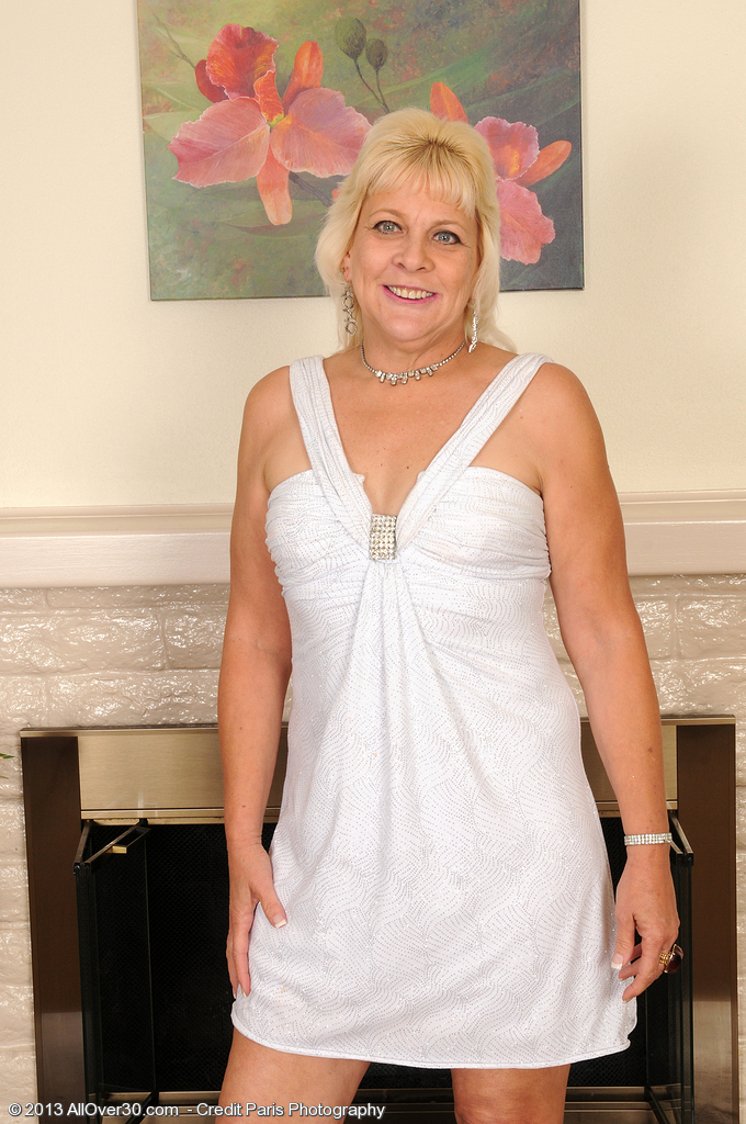 53 Year Old Sindy Silver from  Onlyover30 Removes Her Underware and Opens Up