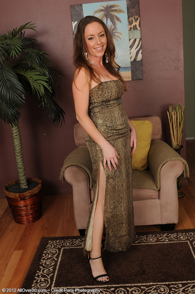 34 Year Old  Elegant Milf Tamara Fox Slips out of Her Evening Dress