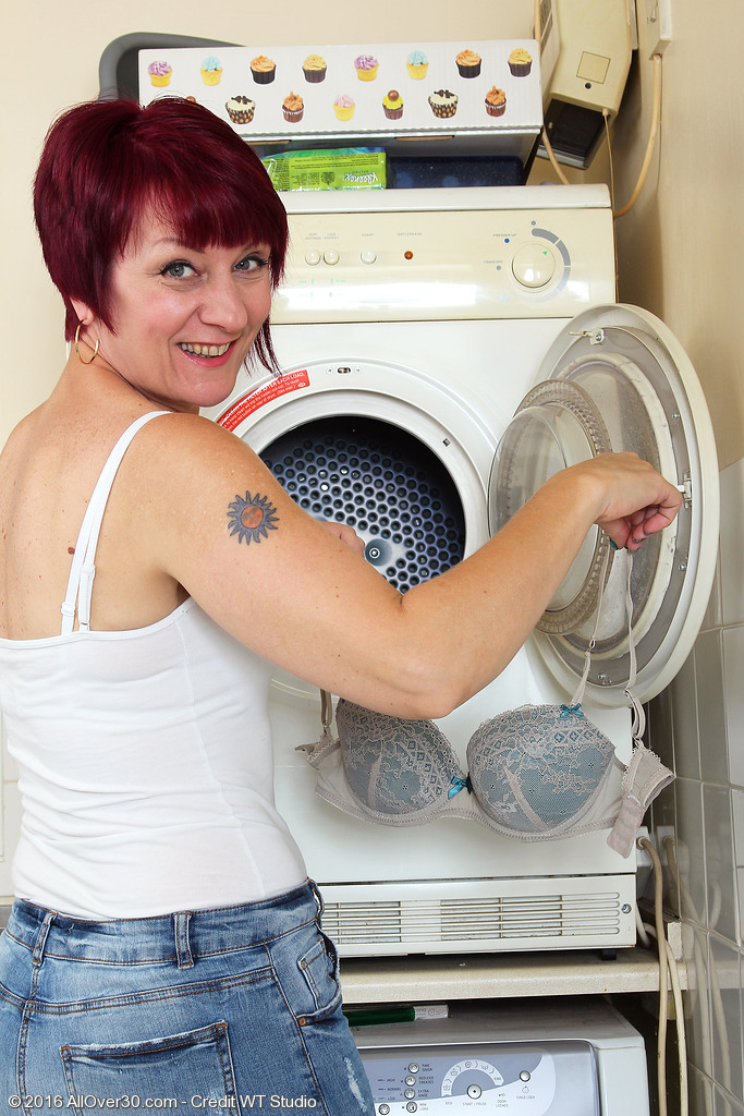 Penny Brooks Doing Her Laundry